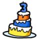 Anniversary Cake Pin